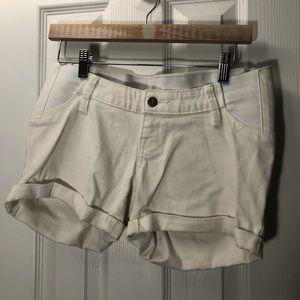 Women's Maternity Shorts- white
